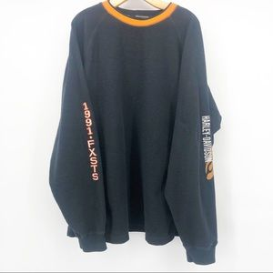 Harley Davidson Terry cloth sweater